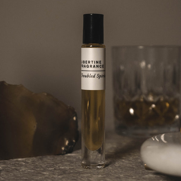 TROUBLED SPIRITS Perfume Oil- Oakwood, Vanilla, Amber