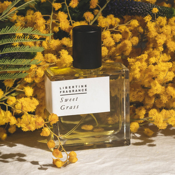 tobacco perfume with mimosa and hay