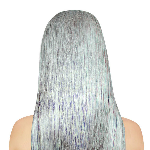 Metallic Silver Haircolor Spray