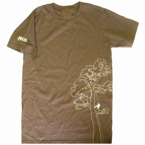 Petzl Men's Arborist T-shirt brown Pacific Ropes