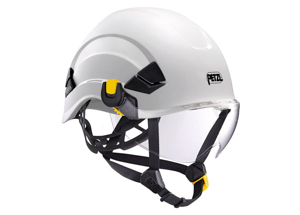Petzl Vizir Transparent Pacific Ropes on Helmet