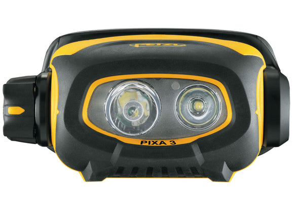 Petzl Pixa 3 Headlamp Front Closeup Pacific Ropes