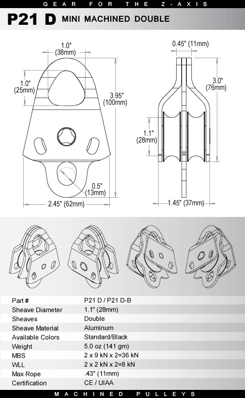Rock Exotica Machined Pulley