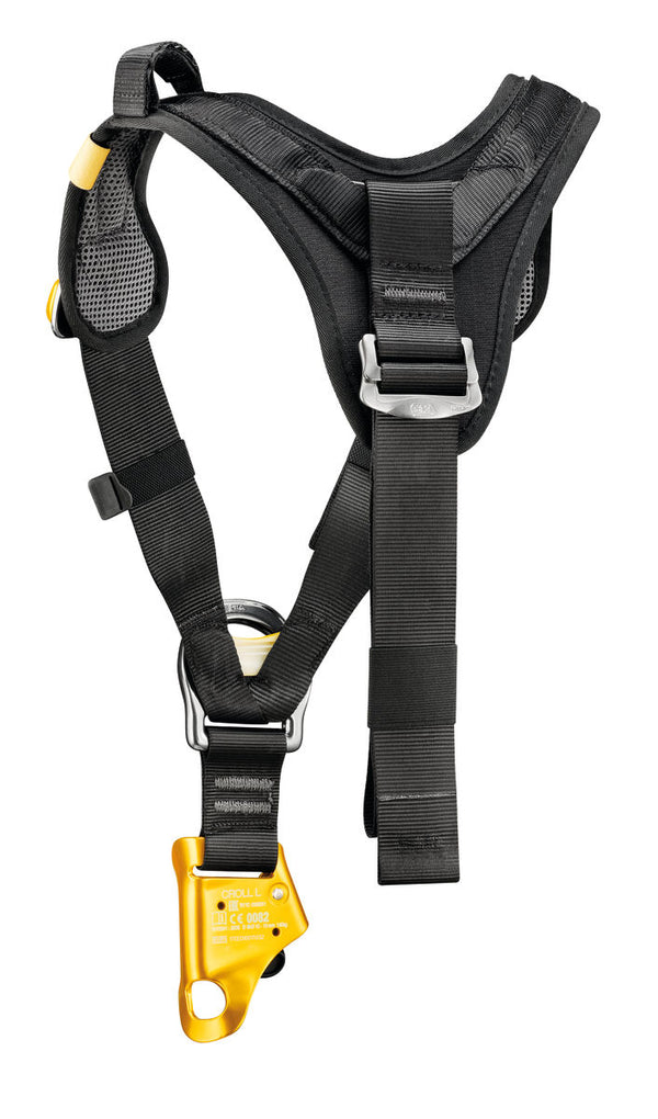 Petzl Top Croll Harness Back Pacific Ropes