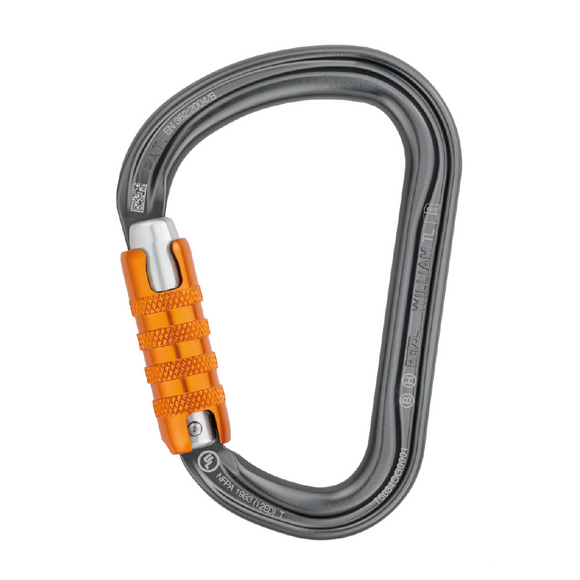Petzl William Carabiner Trilock Silver Pacific Ropes