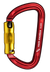 Rock Exotica Rock D Aluminum Carabiners Red/Gold Tri Lock Pacific Ropes