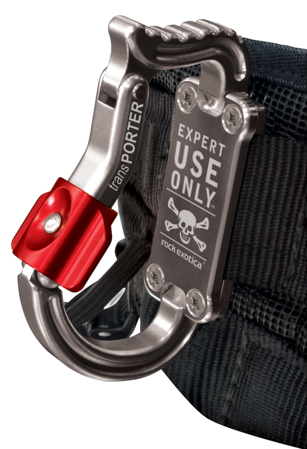 Rock Exotica Transporter Tool Pacific Ropes on Harness