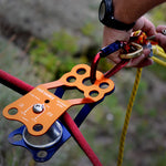Rock Exotica Kootenay Ultra Pulley Pacific Ropes Set Up