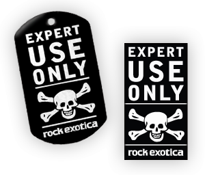 Rock Exotica Tags and Stickers