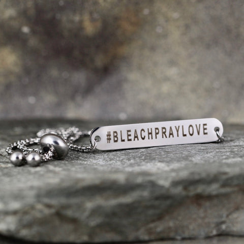 BLEACH PRAY LOVE bracelet - Now Shipping! - a Go Clean Co collaboration - #yyc small business