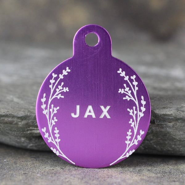 """Jax"" Dog ID Tag - 3 sizes, 9 Colors - Laser Engraved with your Custom Text"