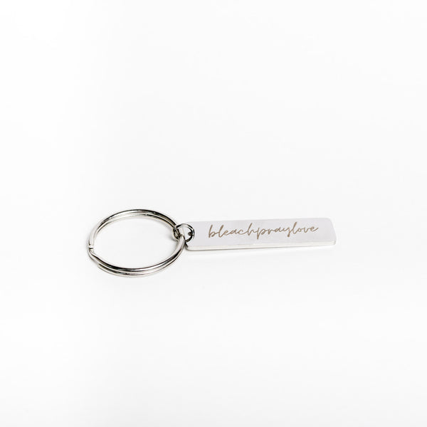 GOCLEANCO Bleach Pray Love Keychain - a Go Clean Co and A Second Time collaboration - #yyc small business