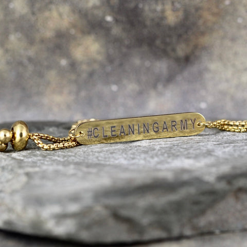 CLEANING ARMY bracelet - Now Shipping! - a Go Clean Co collaboration - #yyc small business