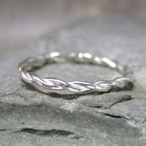 Twist Band - Sterling Silver - Stacking Ring