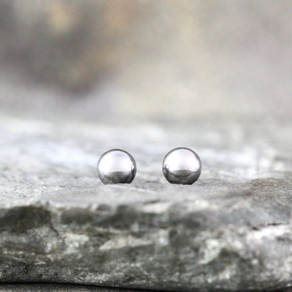 5mm Stud Earrings - Stainless Steel - Rose