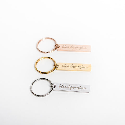 NEW!  Bleach Pray Love Keychain - a Go Clean Co collaboration - #yyc small business