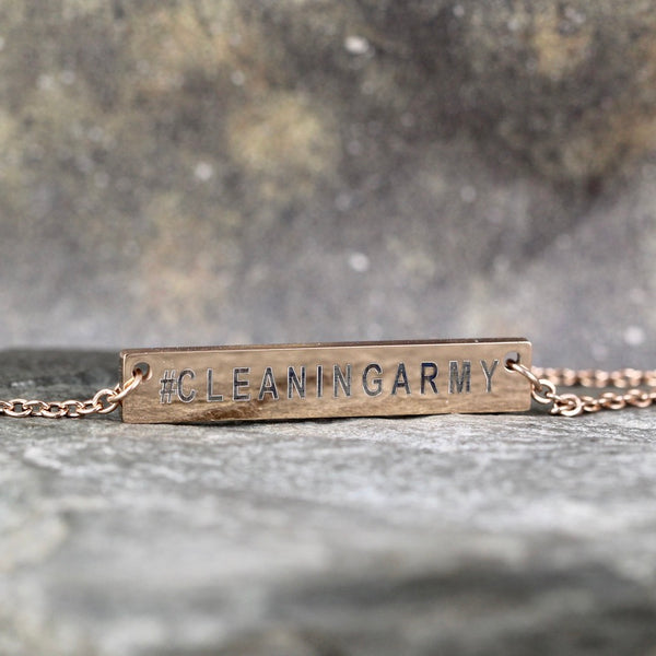 CLEANING ARMY necklace - Now Shipping! - a Go Clean Co collaboration - #yyc small business