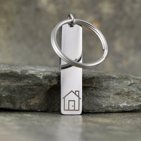 NEW!  House Keychain - GOCLEANCO LOGO - a Go Clean Co and A Second Time collaboration - #yyc small business