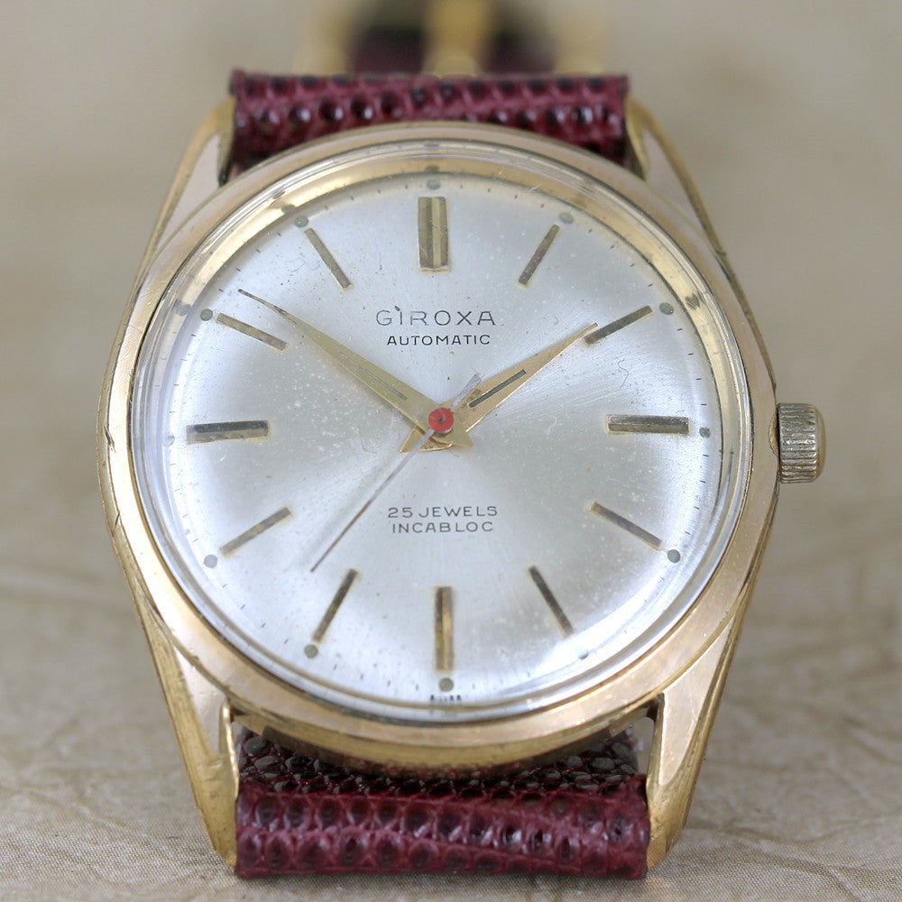 Vintage Giroxa Wrist Watch 25 Jewel Automatic