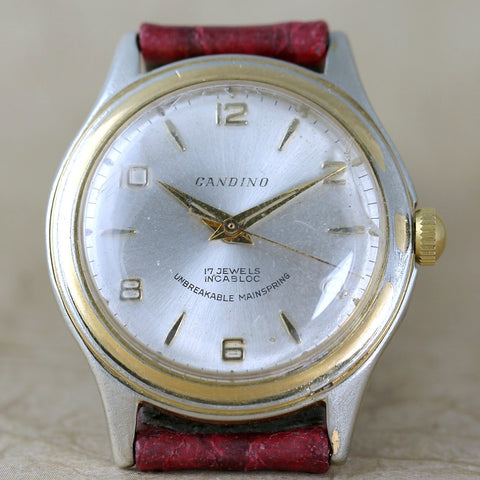 Vintage Candino Wrist Watch Swiss Made 17 Jewel