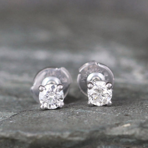 Diamond Stud Earrings with Secure Protektor Backs