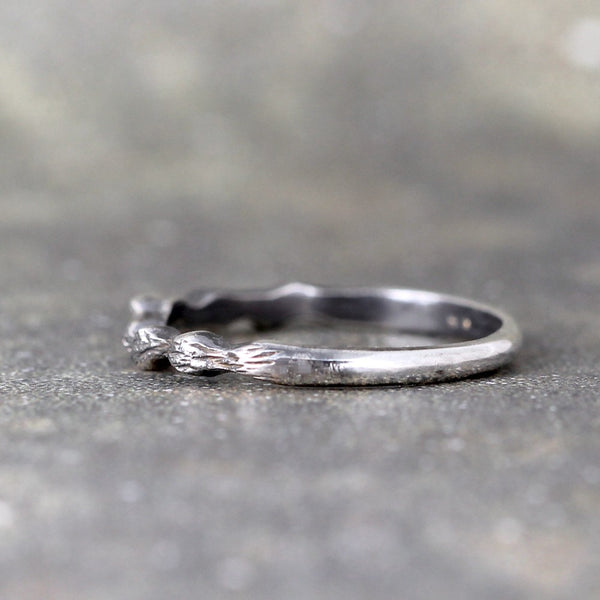 Twig Style Band - Sterling Silver