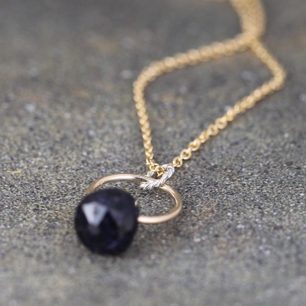 Sapphire Necklace - 14K Gold Filled
