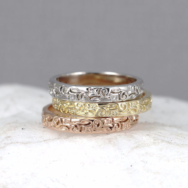 14K Design Band - Your choice of Rose, White or Yellow Gold
