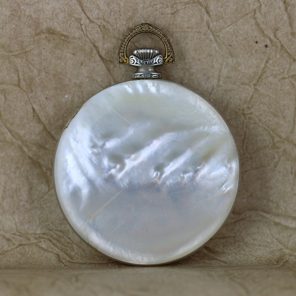 Vintage Pocket Watch - Mother of Pearl Case