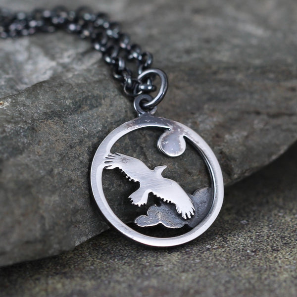 Eagle Pendant - Soaring Bird - Hiking and Outdoor inspired necklace