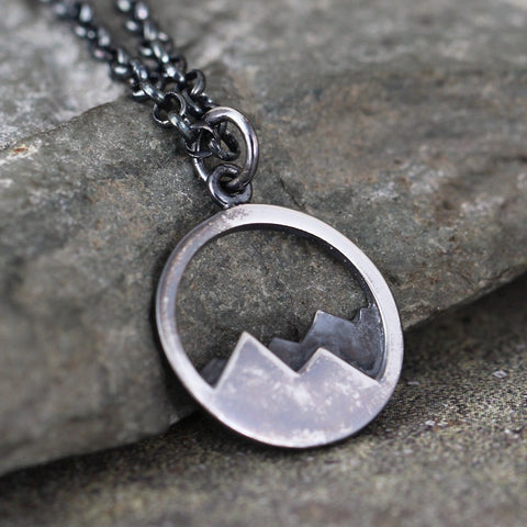 Mountain Range Pendant - Hiking Inspired Necklace