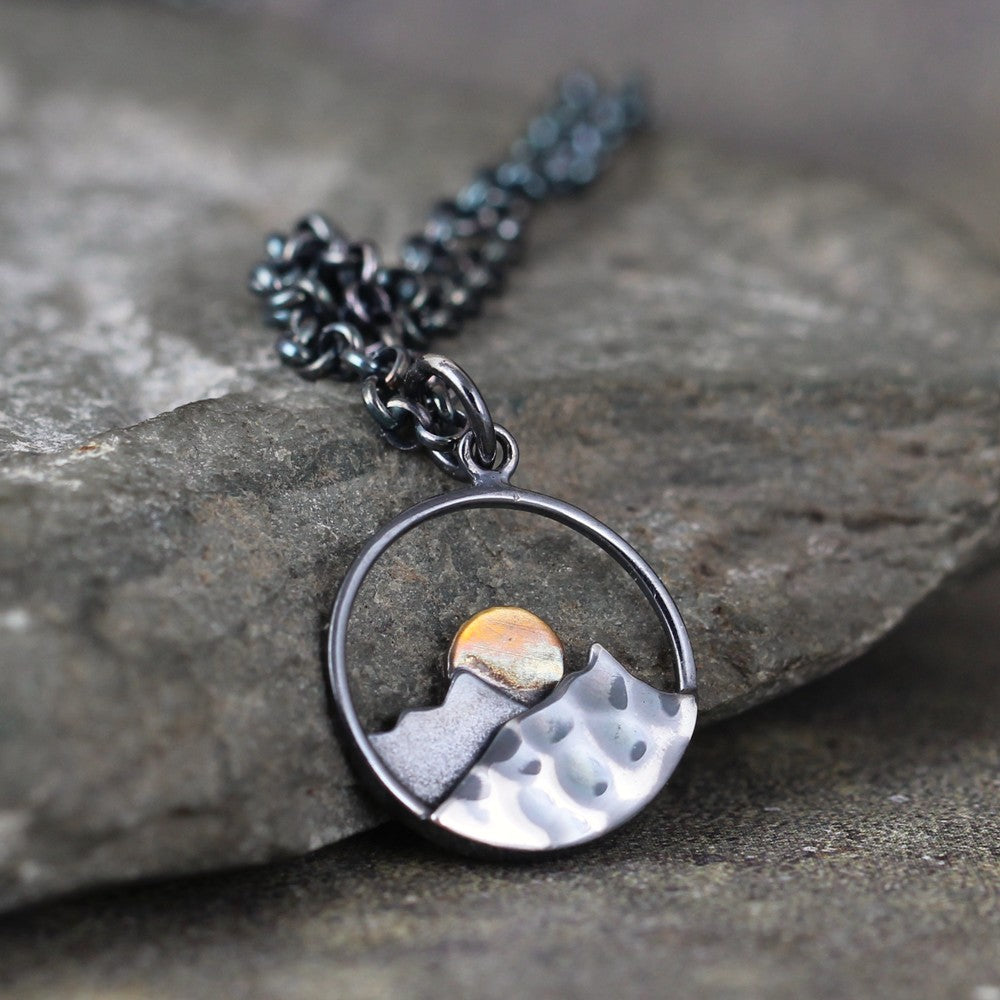 Sunrise Pendant - Mountain - Nature Inspired