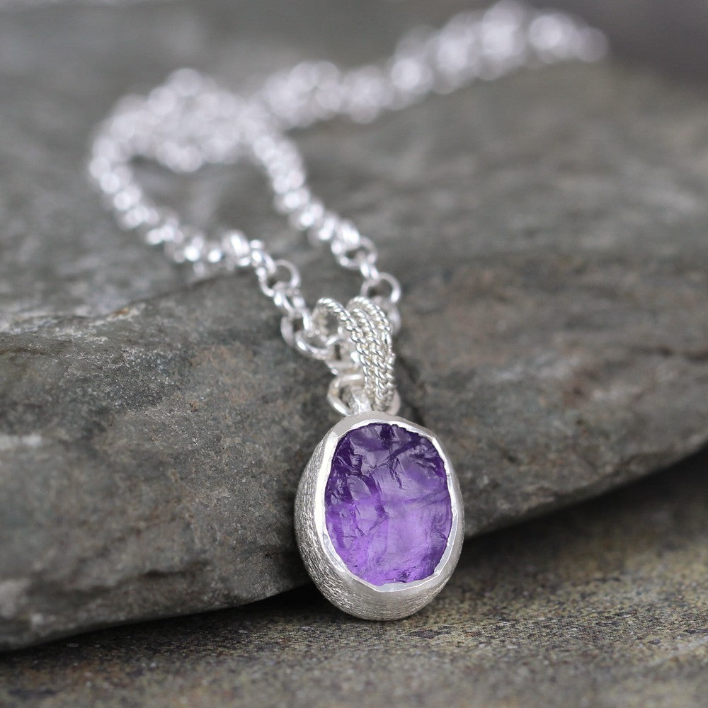 amethyst il pendant wire necklace p point crystal fullxfull jewellery raw wrap