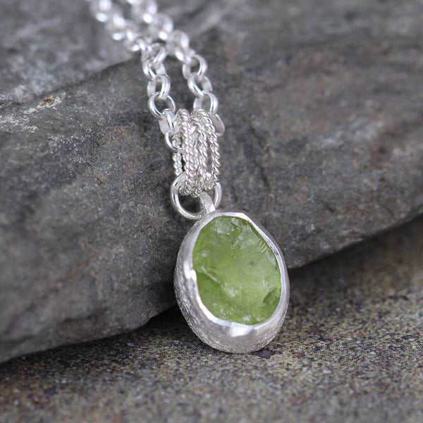 Peridot Pendant - August Birthstone Necklace