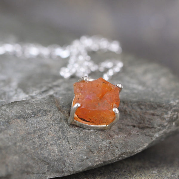 Fire Opal Gemstone Pendant