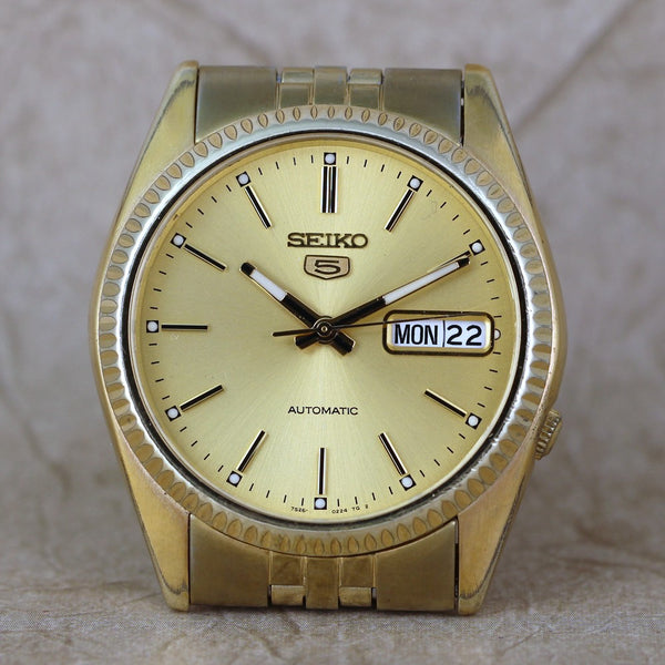 Seiko 5 Gold tone, Automatic, Day/Date 7S26-3110