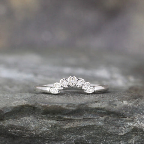 Diamond Wedding Band - Diamond & Sterling Silver
