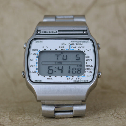 Digital Seiko - A358-5009 - World Time Alarm