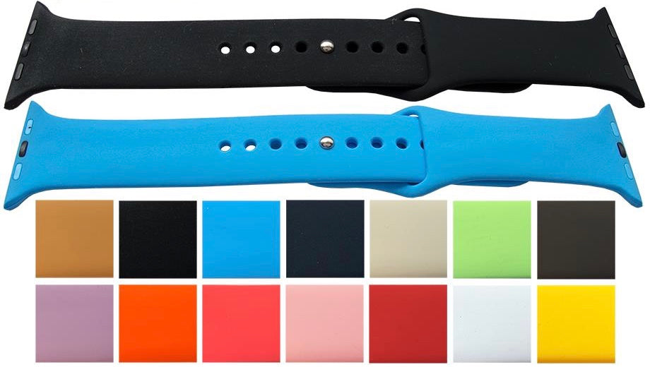 42mm Silicone Bracelet for Apple Watch - choose your color