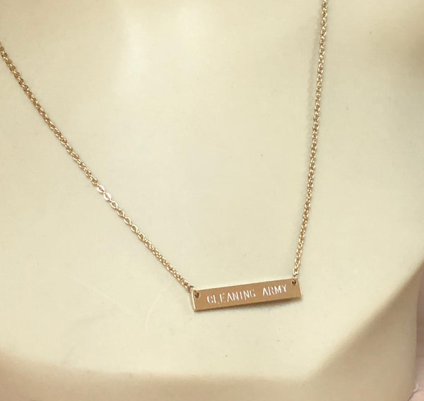 DIRTY BASTARD necklace - Now Shipping! - a Go Clean Co collaboration - #yyc small business