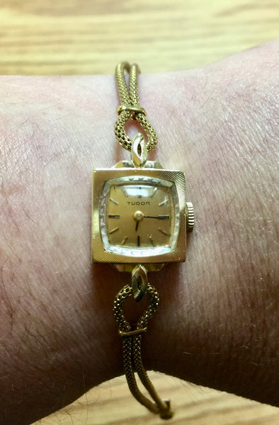 Tudor 14K Ladies Vintage Cocktail Wrist Watch