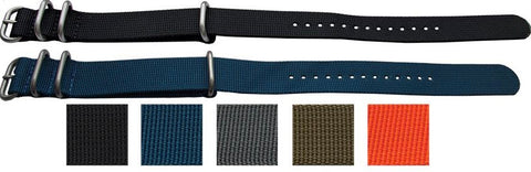 ZULU watch strap - assorted colors - 18mm