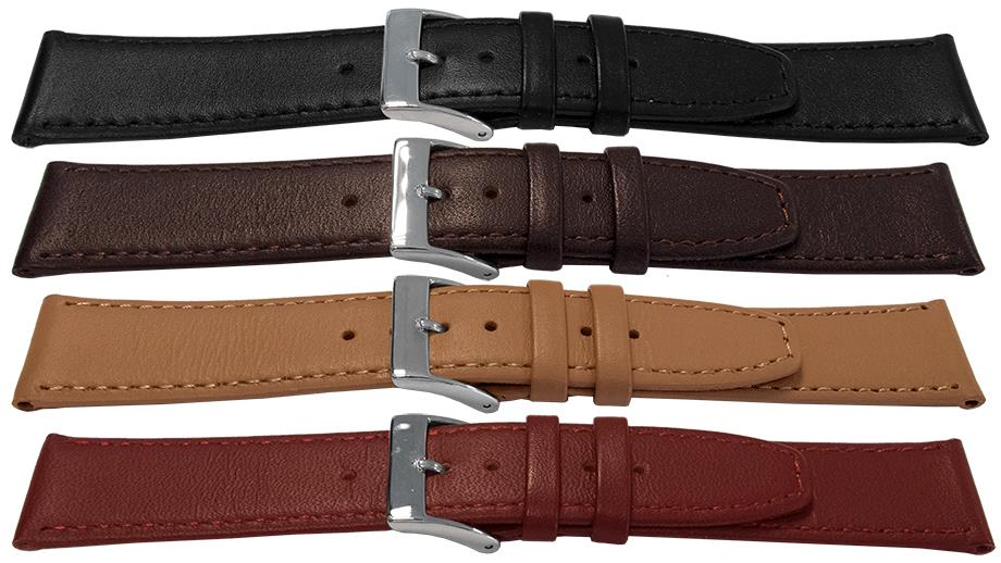 Classic Calf Leather Watch Strap - 17mm - Choose your color