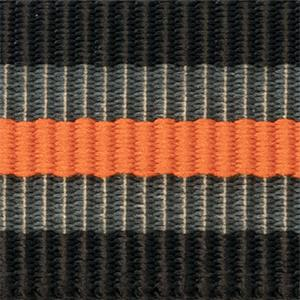 Black Grey and Orange Stripes NATO style watch band