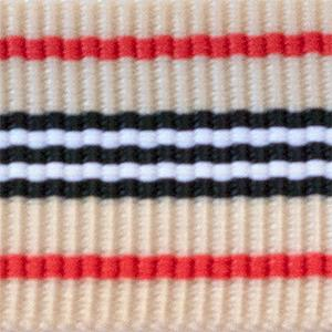Black White Beige Red Stripes NATO style watch band