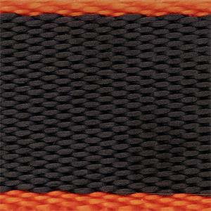 Black and Orange Heavy Duty NATO style Watch Strap