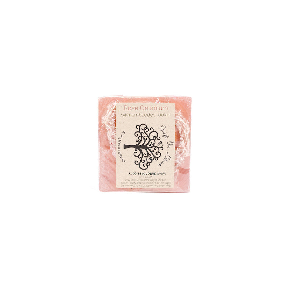 Load image into Gallery viewer, Rose Geranium & Loofa Soap