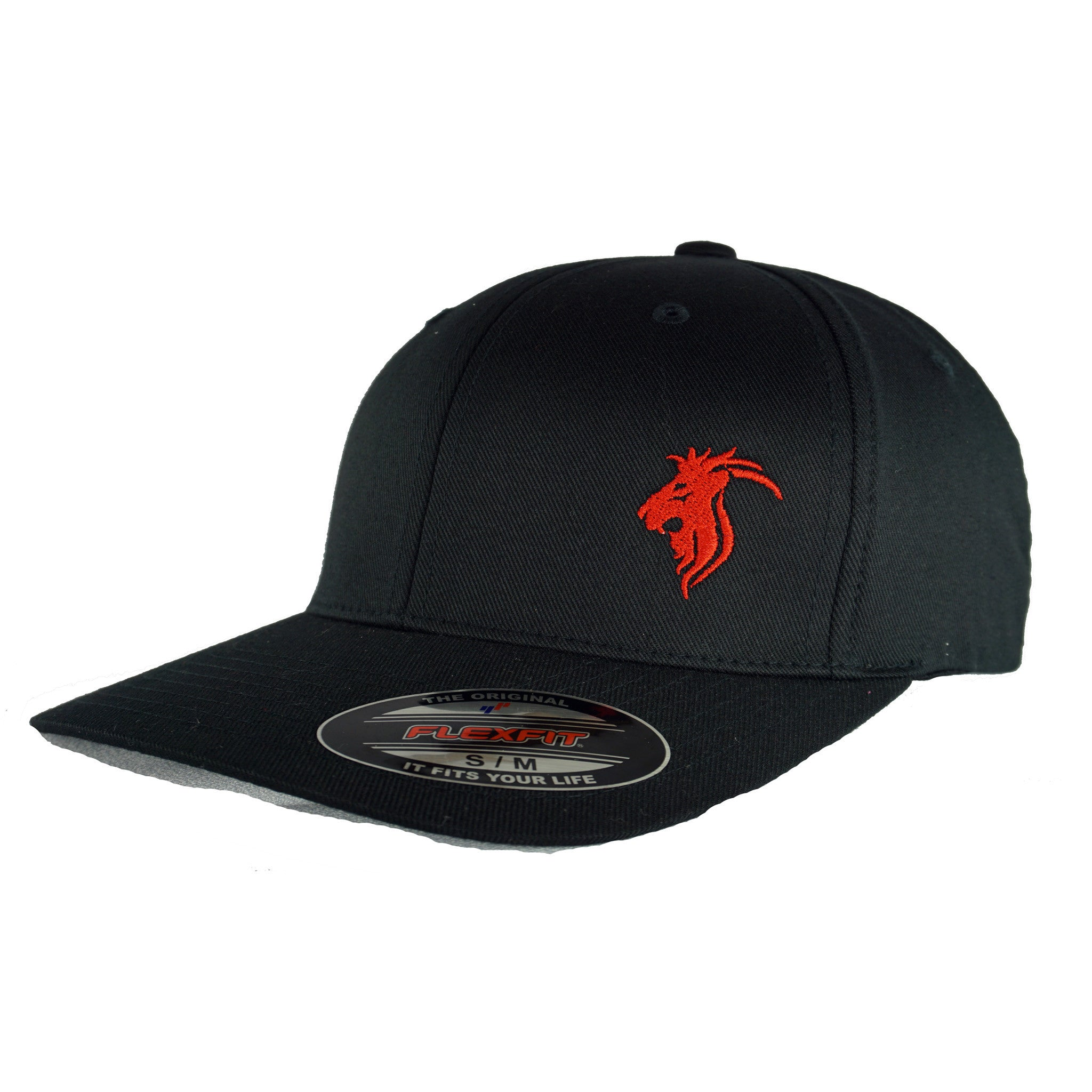 Black  Flexfit w/ Red Logo
