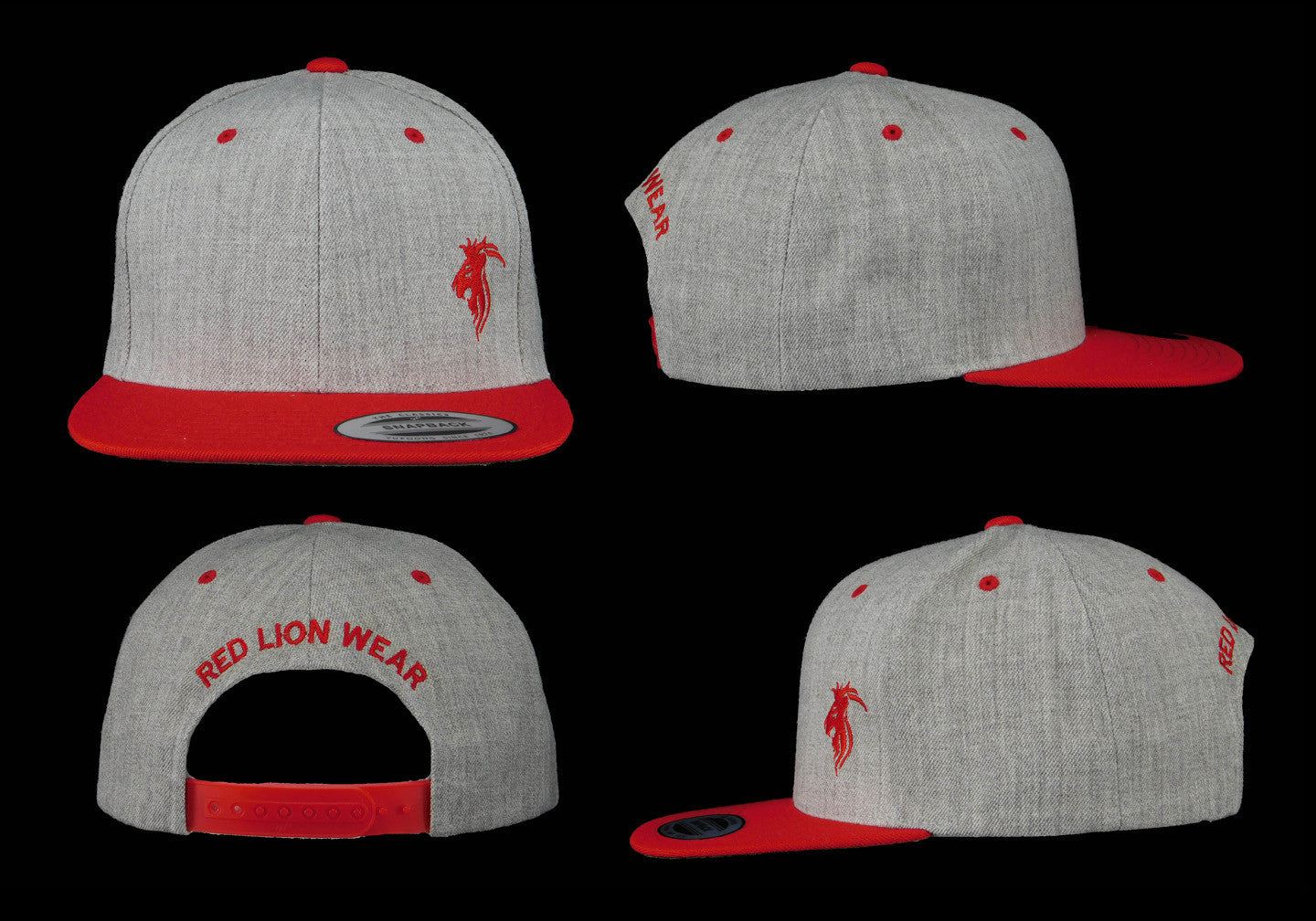 Gray Snapback with Red logo