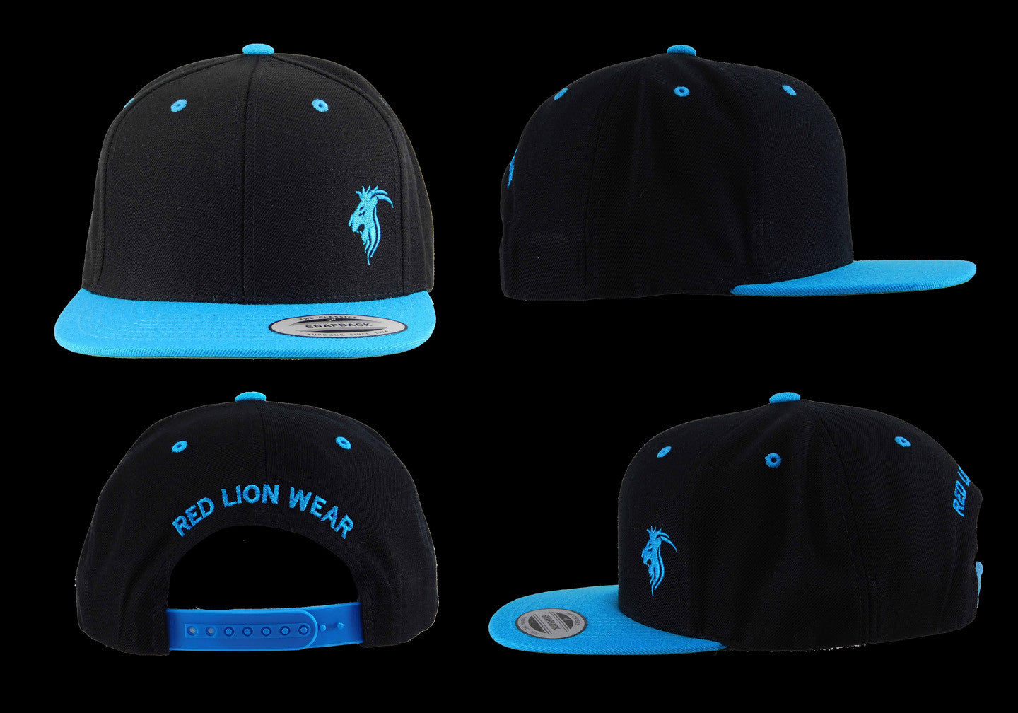Black Snapback with Turquoise Logo